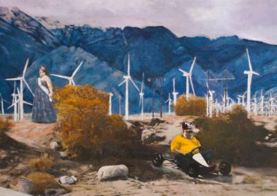 """Marjorie and Bob Moskowitz """"Queen of the Desert"""" Oil, 35x45 $8500"""