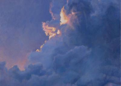"Linda Pearlman Karlsberg ""On the Cusp of Darker Hours"" Oil on canvas, 48x36 $8900"