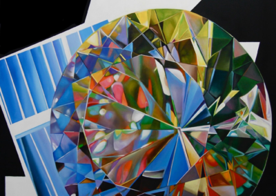 "Cathy Pitts ""Monet's Diamond"" Oil on Canvas, 55x48 $8,000"