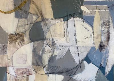 "Lori Rhodes ""Show Me"" Acrylic, charcoal, pigment sticks, graphite,pencil, 30x30 $1400"