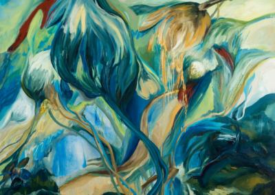 """Anna Sidana """"Symbiosis"""" Oil on canvas, 52x59 NFS"""