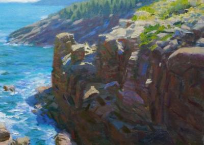 "Anthony Watkins ""Acadia Shore"" Oil on canvas, 12x16 $1200"