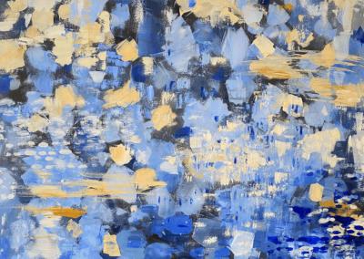 "Aia Bower ""Le Printemps"" Mixed media on canvas, 40x40 $4000"